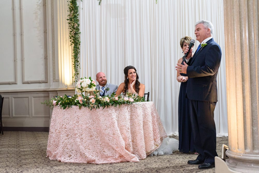 Touching Wedding Speech from Father of the Bride | Treasury on the Plaza | Bank Wedding Venue in St. Augustine Florida