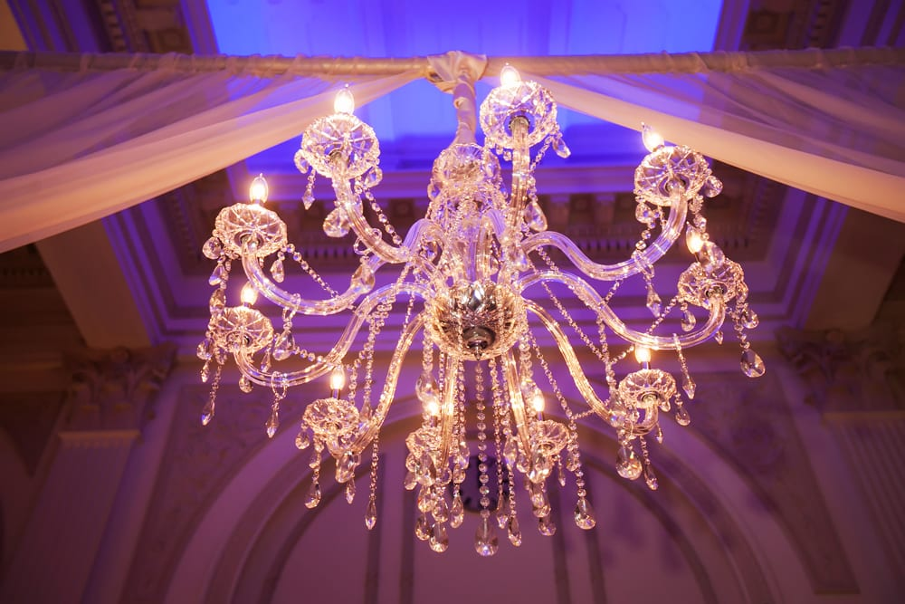 Wedding chandelier | St. Augustine Wedding Venue | The Treasury on the Plaza