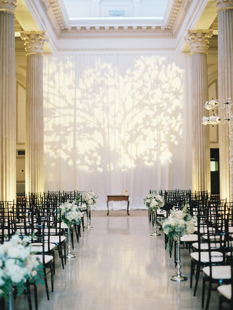 Wedding Ceremony to reception transformation | St. Augustine Wedding Venue | The Treasury on the Plaza