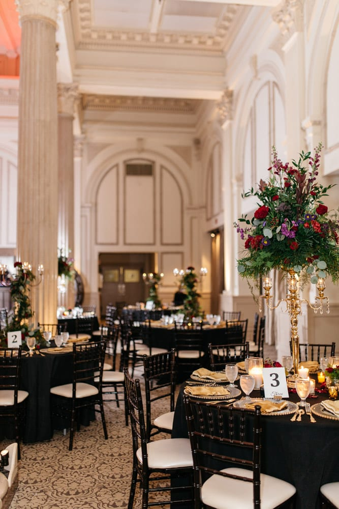 Reception Decor | Kirsten + JC | Treasury on the Plaza Wedding Full of Surprises for Guests | St. Augustine Wedding Venue