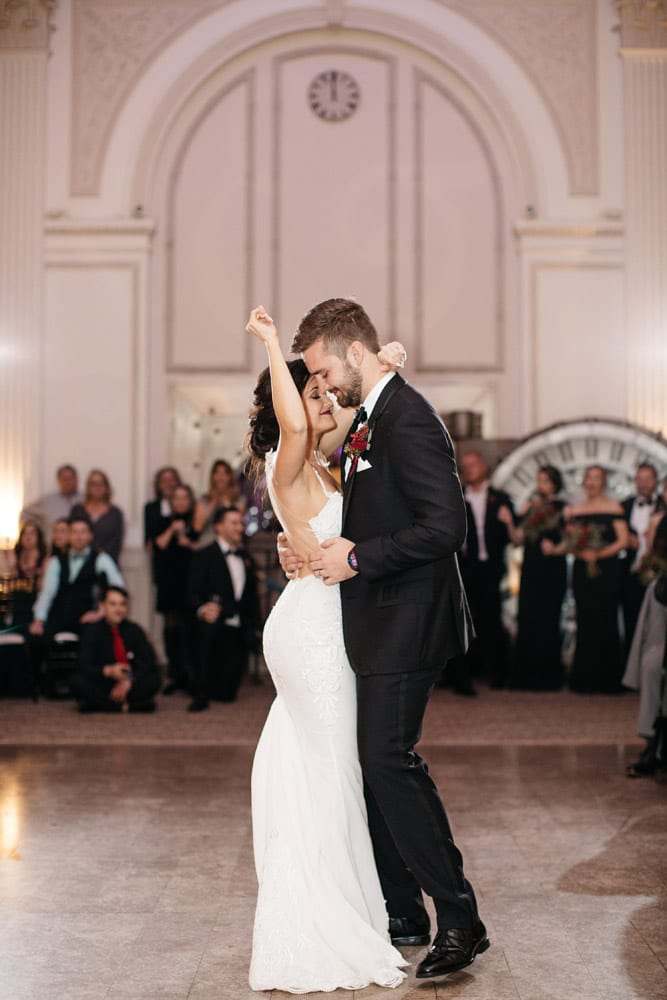 First Dance | Kirsten + JC | Treasury on the Plaza Wedding Full of Surprises for Guests | St. Augustine Wedding Venue