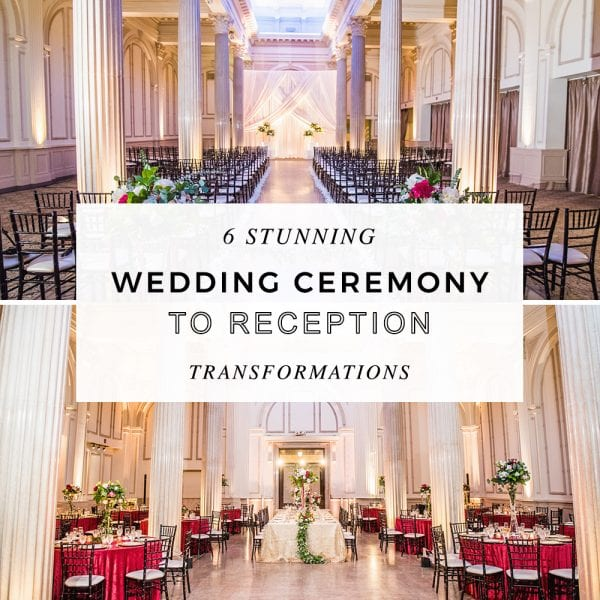 6 Stunning Wedding Ceremony to Reception Transformations at The Treasury Featured Image