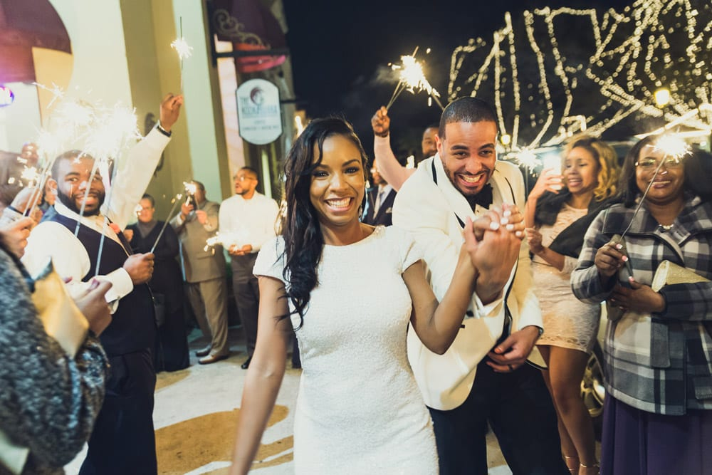 Wedding Grand Exit | Tamisha + Jason | A Fun Elegant Wedding in St. Augustine | Treasury Blog