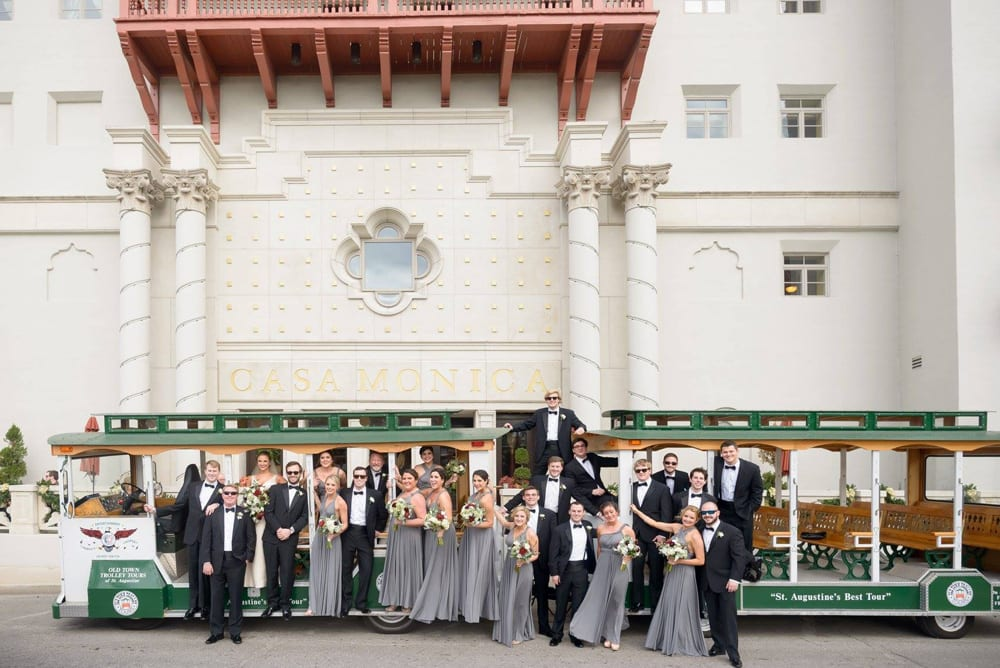 Wedding Trolley | Historic St. Augustine | St. Augustine, Florida | Best Destination Wedding Locations