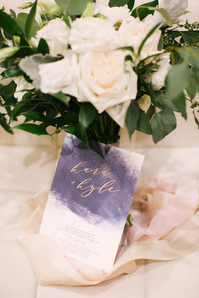 Wedding Invitation | Kara +Kyle | A St. Augustine Local Love Story at The Treasury on the Plaza