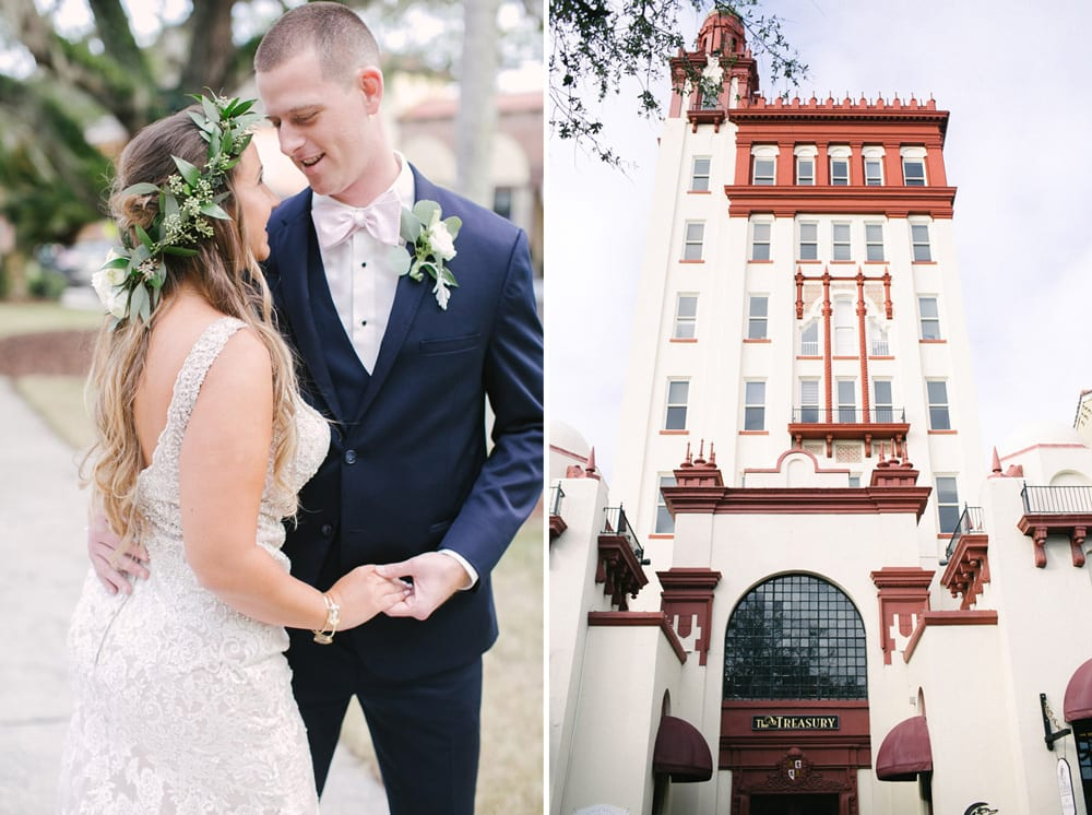 Bridal Party Portraits | Kara +Kyle | A Local St. Augustine Love Story at The Treasury on the Plaza