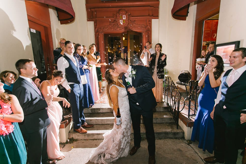 Grand Exit | Kara + Kyle | A Local St. Augustine Love Story at The Treasury on the Plaza