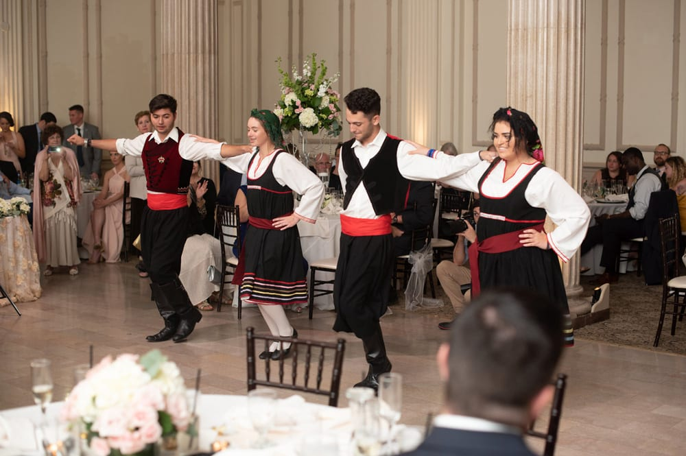 Greek Dancing at The Treasury on the Plaza | 6 Ways to Make Your Wedding Reception More Fun