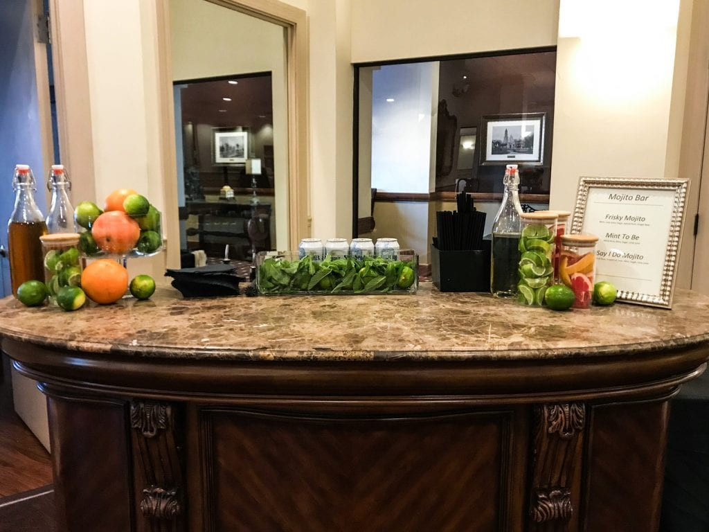 Mojito Bar at The Treasury on the Plaza | 7 Ways to Make Your Wedding Reception More Fun