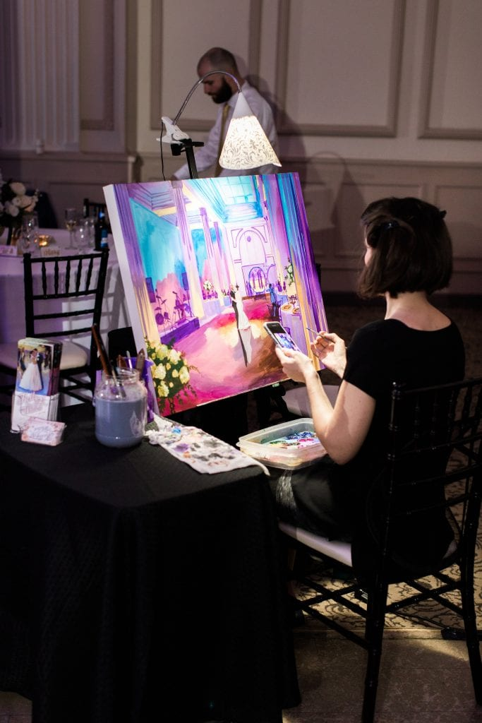 Live painting at The Treasury on the Plaza | | 6 Ideas For a Fun Wedding Reception