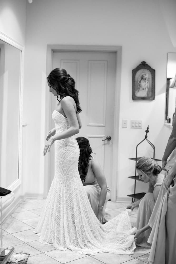 Getting ready in the bridal suite | An Intimate Wedding in St. Augustine | Mackenzie + Nick
