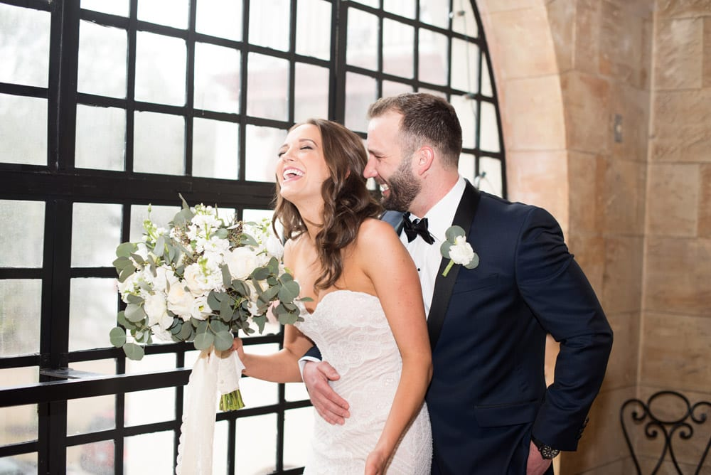 Bride and Groom Portraits on Treasury Balcony | An Intimate Wedding in St. Augustine | Mackenzie + Nick