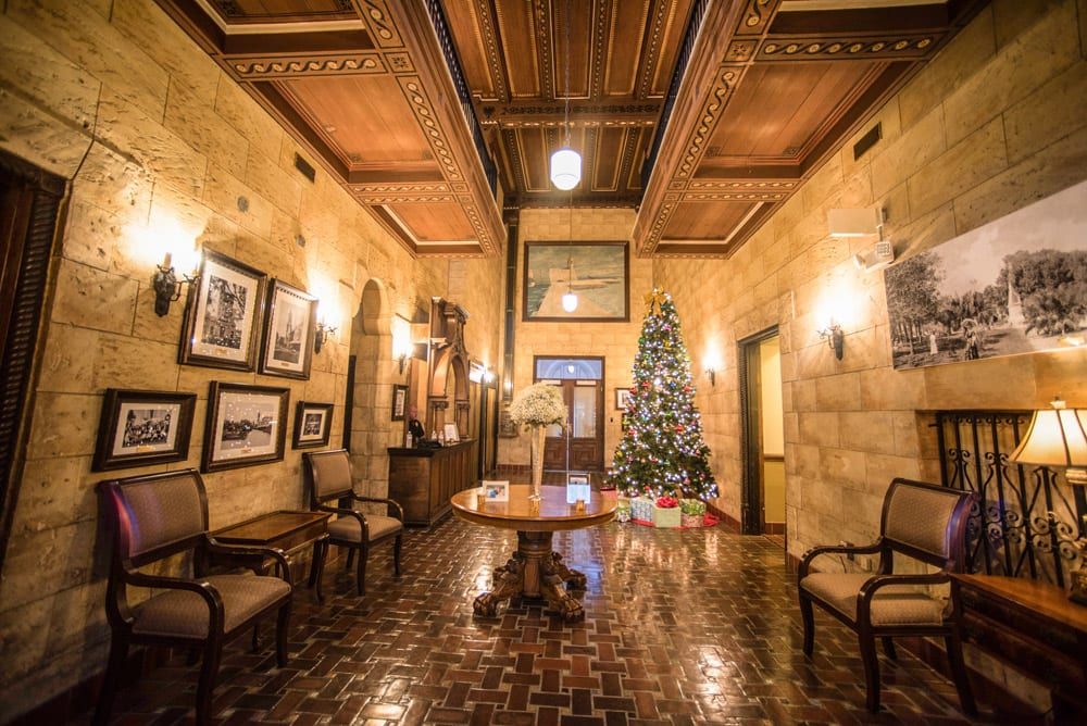 Lobby at The Treasury on the Plaza   An Intimate Wedding in St. Augustine   Mackenzie + Nick