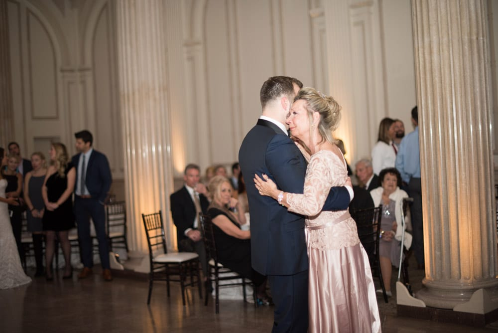 Mother son dance at Treasury on the Plaza | An Intimate Wedding in St. Augustine | Mackenzie + Nick