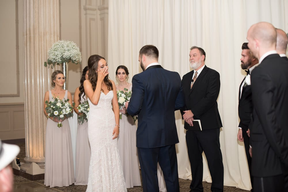 Wedding ceremony at Treasury on the Plaza   An Intimate Wedding in St. Augustine   Mackenzie + Nick