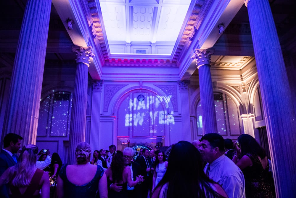 gobo projection | A Memorable New Year's Eve Wedding | Merlita + Ross