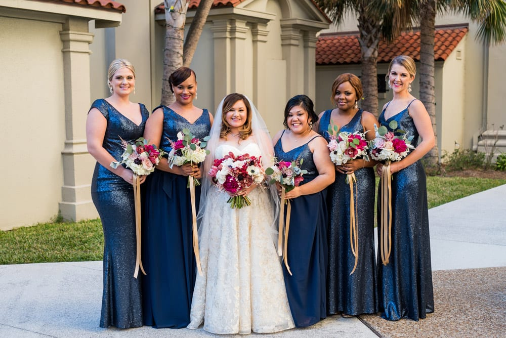 bridal party | A Memorable New Year's Eve Wedding | Merlita + Ross