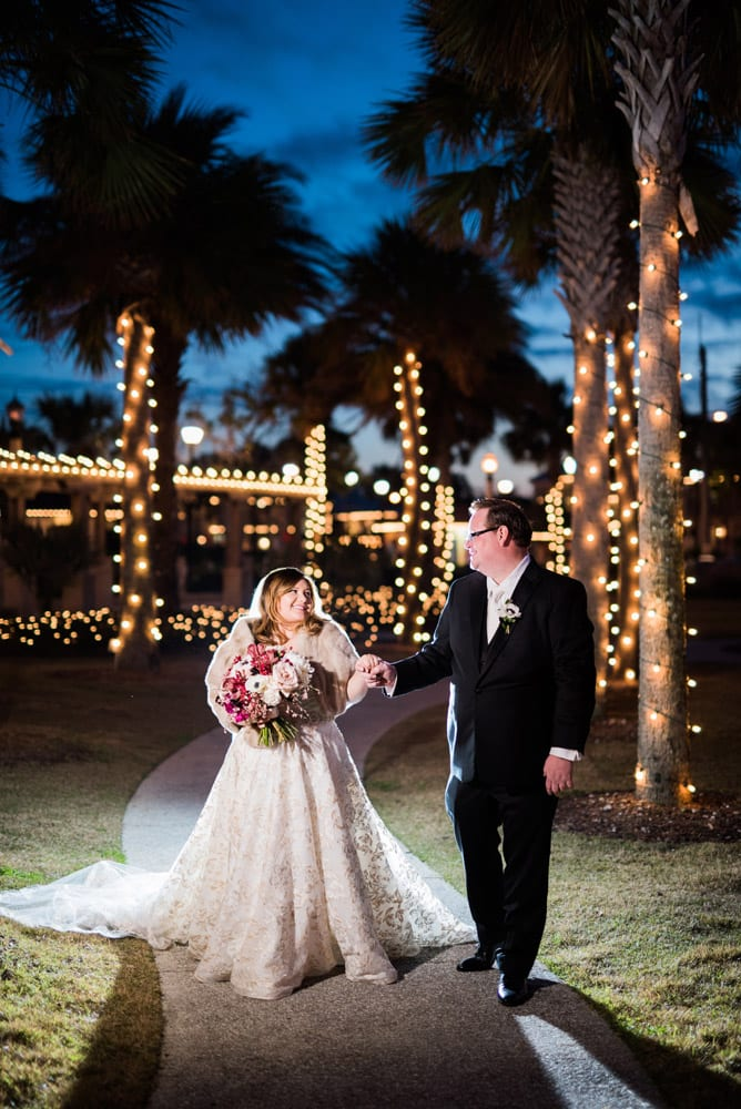 bride and groom nights of lights | A Memorable Affair | Merlita + Ross
