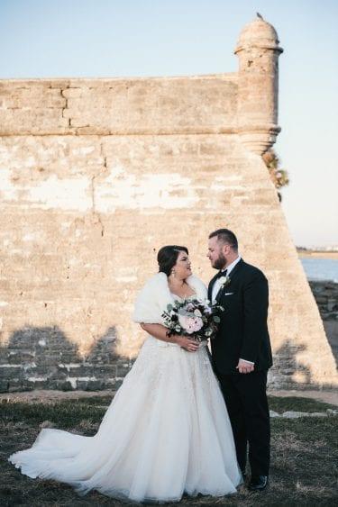 florida winter wedding | Fort in St. Augustine
