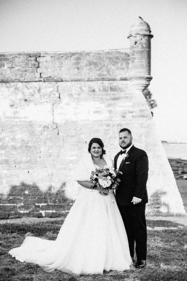 florida winter wedding | Castillo de San Marco