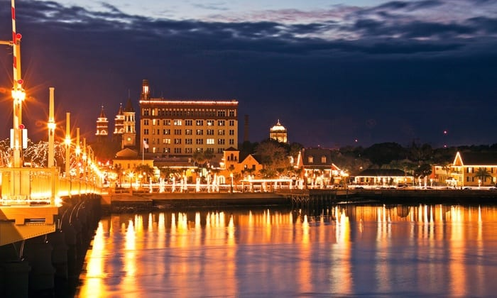 St. Augustine Waterfront | Nights of Lights in St. Augustine