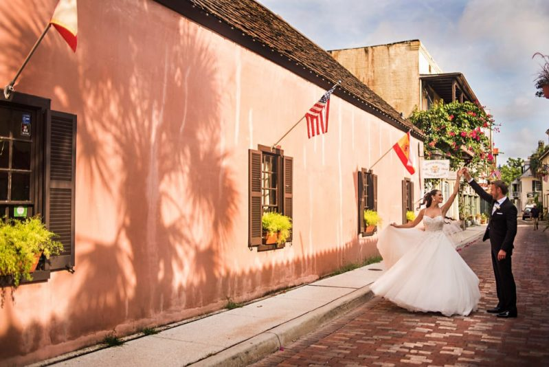 St. Augustine Wedding Photos Locations in Downtown St. Augustine