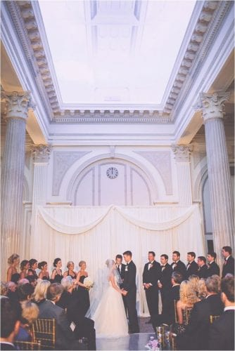Mackenzie and Miles' 2014 Wedding at The Treasury. Photo by Jessi Caparella.
