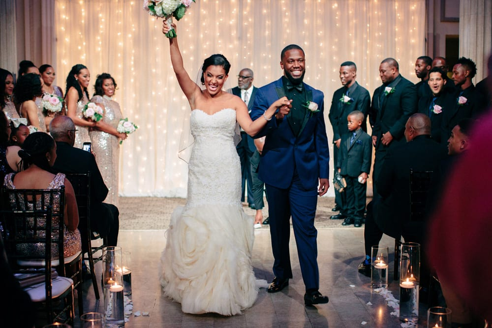 Amber and Derrick's 2016 Wedding at The Treasury on the Plaza. Photo by Ais Portraits.