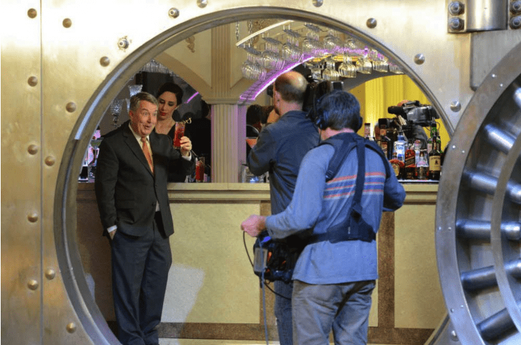 Reporter Kerry Sanders filmed a segment of NBC's Today Show inside The Treasury's Vault Bar.