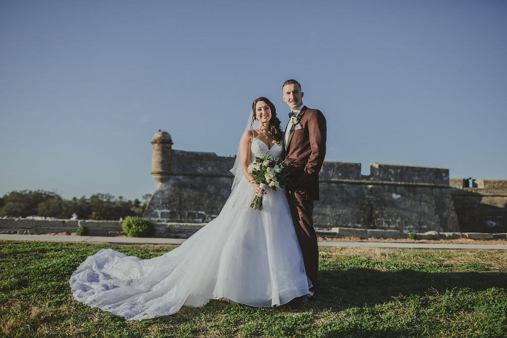 St. Augustine Fort Wedding Photos