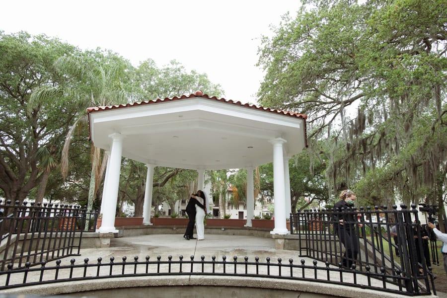 First Dance in the Plaza de la Constitucion | De-Shazo and Jaccara's Surprise Wedding at The Treasury! | St. Augustine Wedding Venue