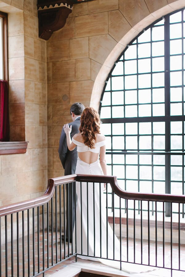 Treasury on the Plaza First Look Photos | St Augustine Wedding Photos