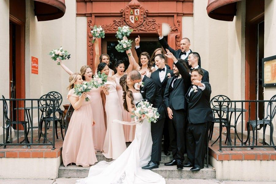 Meagan Noah wedding at The Treasury on the Plaza wedding venue st augustine