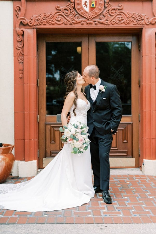 Meagan Noah wedding at The Treasury on the Plaza wedding venue st augustine
