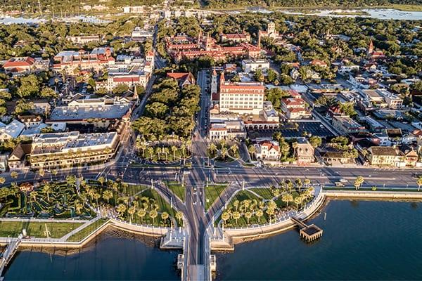 St Augustine aerial photo
