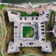 St. Augustine Fort Drone Shot