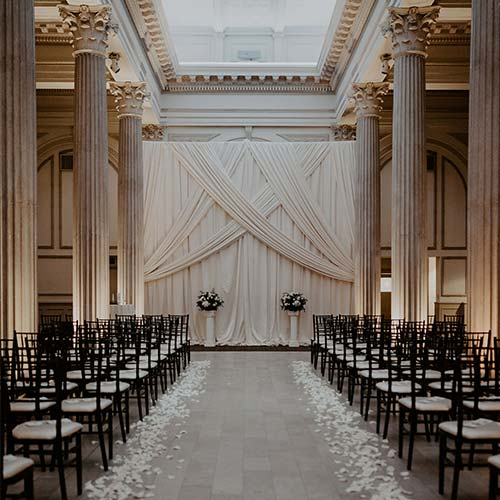 St Augustine Wedding Venues | Wedding Ceremony backdrop at The Treasury on the Plaza