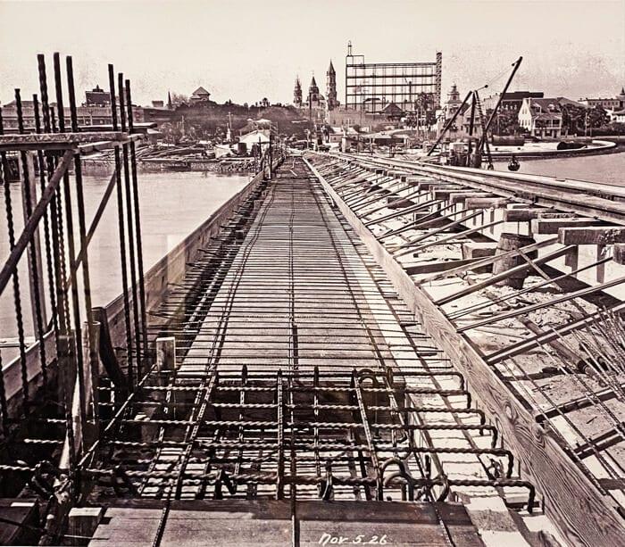 Treasury on the Plaza Bridge of Lions Construction St. Augustine