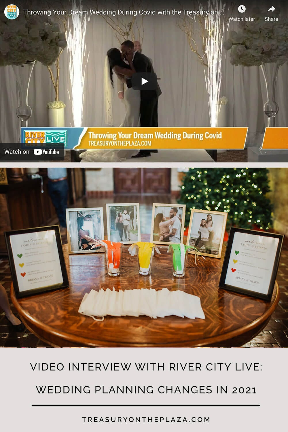 Wedding Planning Changes in 2021 | Social Distancing Wrist Bands | Wedding at The Treasury on the Plaza