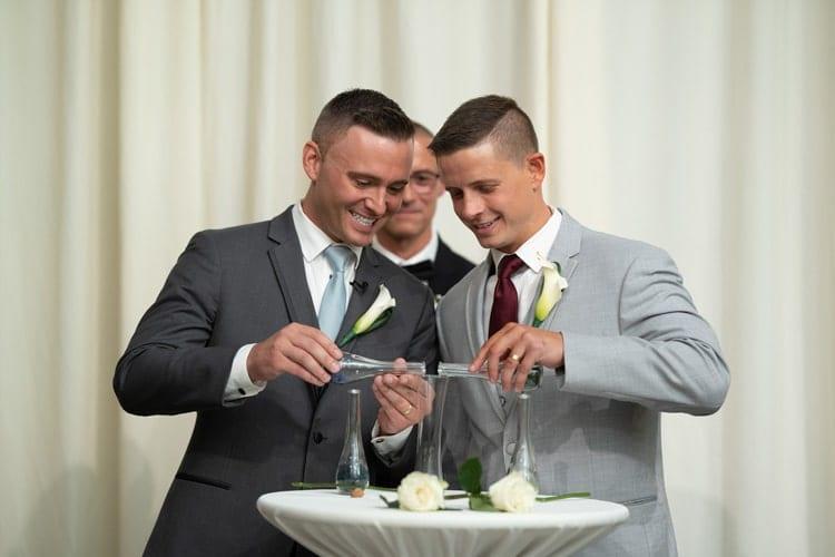 Wedding ceremony unity crystals