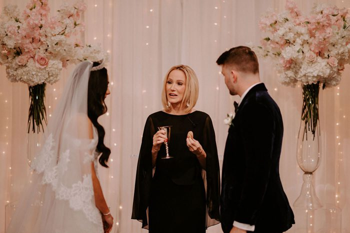 Pastor Paula White officiates wedding ceremony | Glam Wedding with a Rock and Roll Surprise at The Treasury | Cristal + Steven