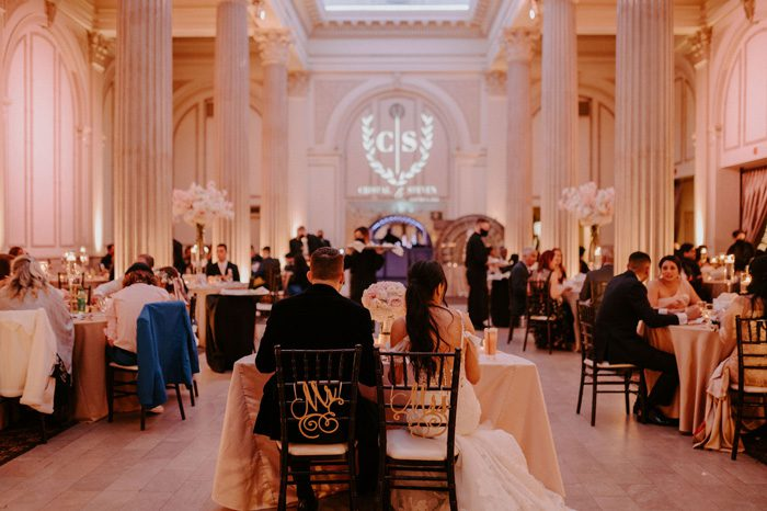 Glam Wedding reception with a Rock and Roll Surprise at The Treasury | Cristal + Steven