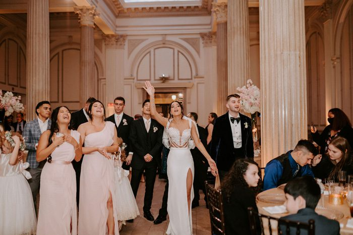 Rock and roll wedding performance Journey | Glam Wedding with a Rock and Roll Surprise at The Treasury | Cristal + Steven
