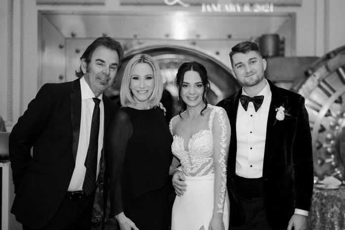 Paula White and Jonathan Cain wedding guests Glam Wedding with a Rock and Roll Surprise at The Treasury | Cristal + Steven