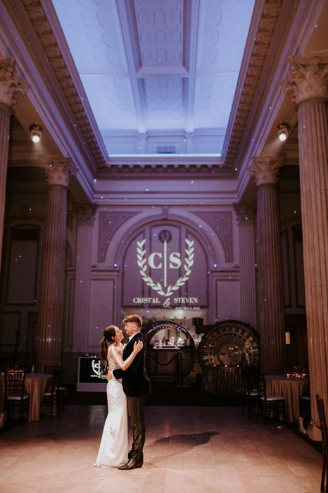 private last dance | Glam Wedding with a Rock and Roll Surprise at The Treasury | Cristal + Steven