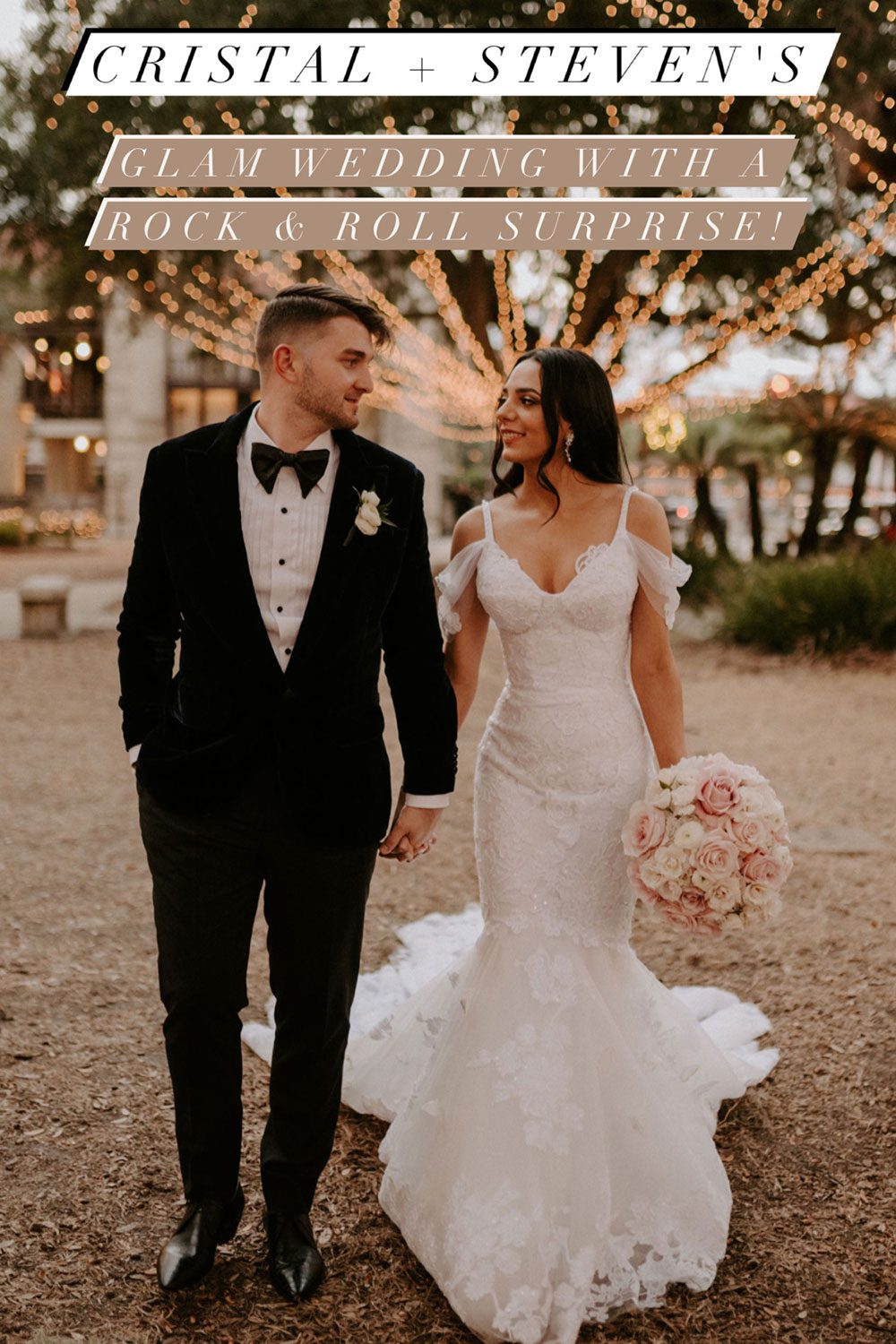 Cristal + Steven | Pink Rock and roll wedding || Pin this Post for later