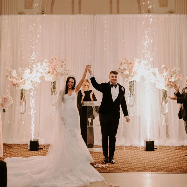 Glam Wedding with a Rock and Roll Surprise at The Treasury | Cristal + Steven Featured Image