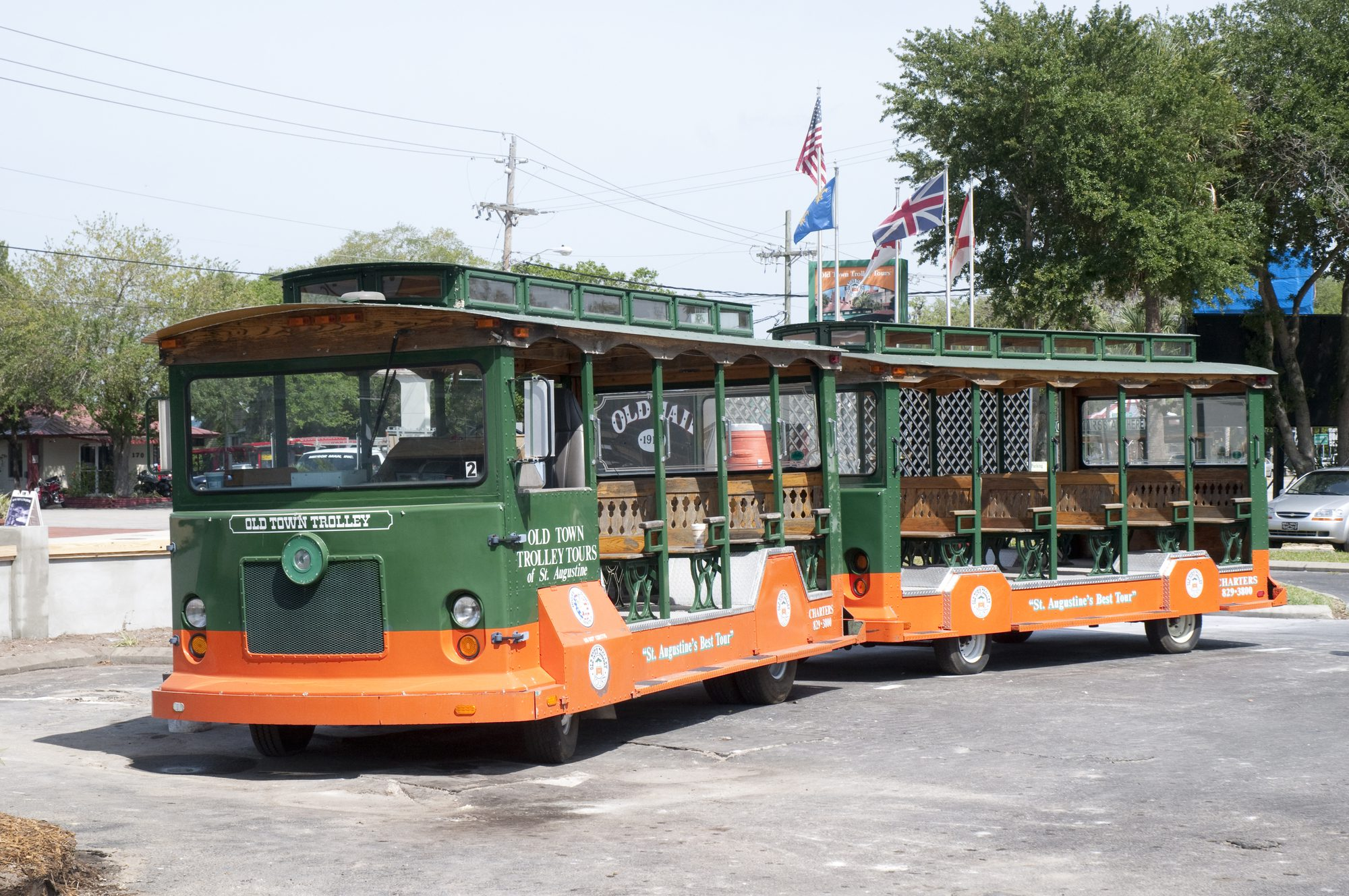 Cap off the rehearsal dinner with a trolley tour around St. Augustine.
